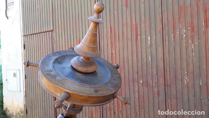 Antigüedades: Perchero de pié antiguo estilo Luis Felipe. Mueble auxiliar perchero gabanero antigo biedermeier. - Foto 5 - 135205150
