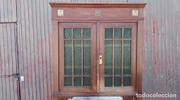 Antigüedades: Vitrina antigua estilo modernista art decó mueble auxiliar aparador chinero antiguo, alacena vintage - Foto 6 - 135210714