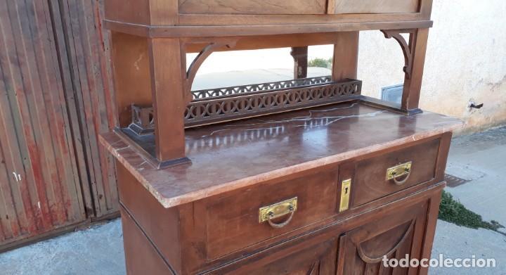 Antigüedades: Vitrina antigua estilo modernista art decó mueble auxiliar aparador chinero antiguo, alacena vintage - Foto 9 - 135210714