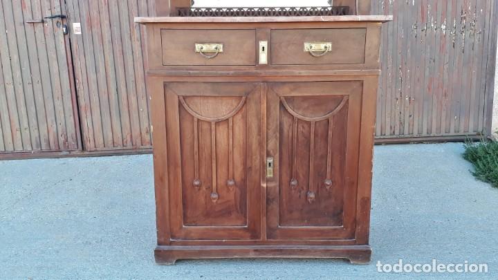 Antigüedades: Vitrina antigua estilo modernista art decó mueble auxiliar aparador chinero antiguo, alacena vintage - Foto 10 - 135210714