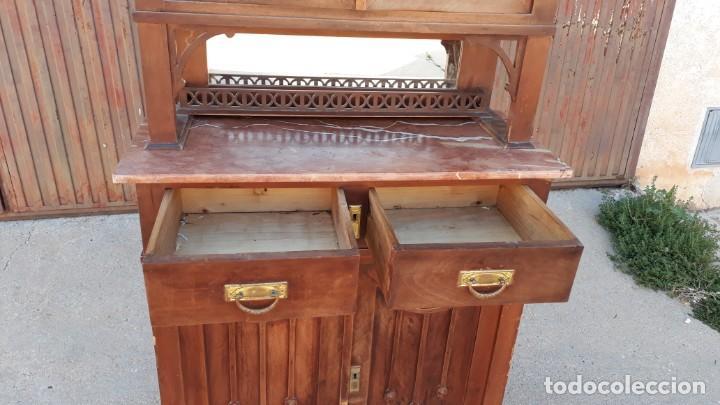 Antigüedades: Vitrina antigua estilo modernista art decó mueble auxiliar aparador chinero antiguo, alacena vintage - Foto 12 - 135210714