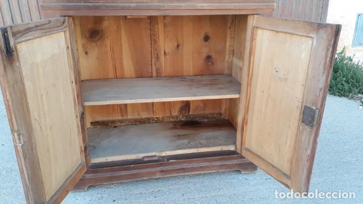Antigüedades: Vitrina antigua estilo modernista art decó mueble auxiliar aparador chinero antiguo, alacena vintage - Foto 14 - 135210714