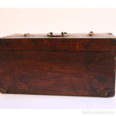 Antigüedades: ANTIGUO MALETÍN DE MADERA. Lote 135278918