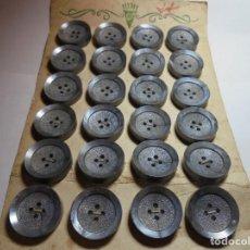 Antigüedades: MGNIFICOS 24 BOTONES ANTIGUOS DE LOS AÑOS 50-60,EN GRIS. Lote 135301662