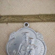 Antiguidades: ANTIGUA MEDALLA ALUMINIO MARIA AUXILIADORA SAGRADO CORAZON. Lote 135303246