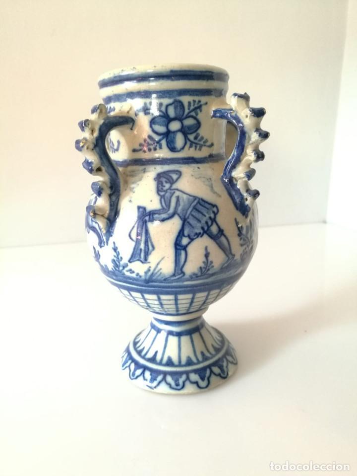 JARRA DE NOVIA - MOTIVOS TAURINOS - 17 CM (Antigüedades - Porcelanas y Cerámicas - Otras)