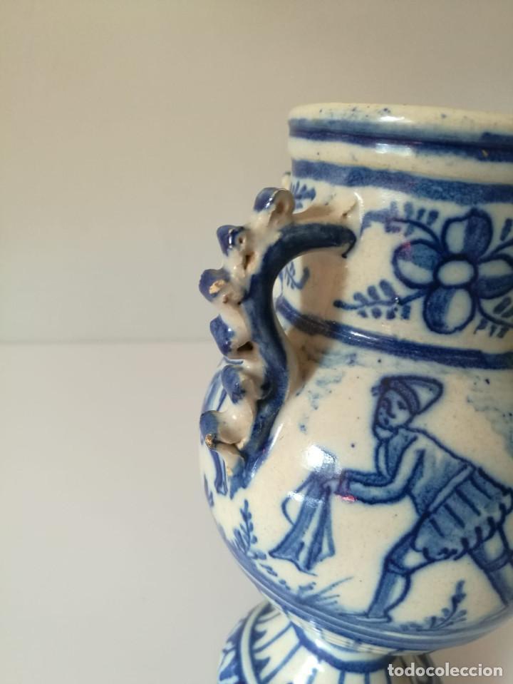 Antigüedades: JARRA DE NOVIA - MOTIVOS TAURINOS - 17 cm - Foto 3 - 135319674