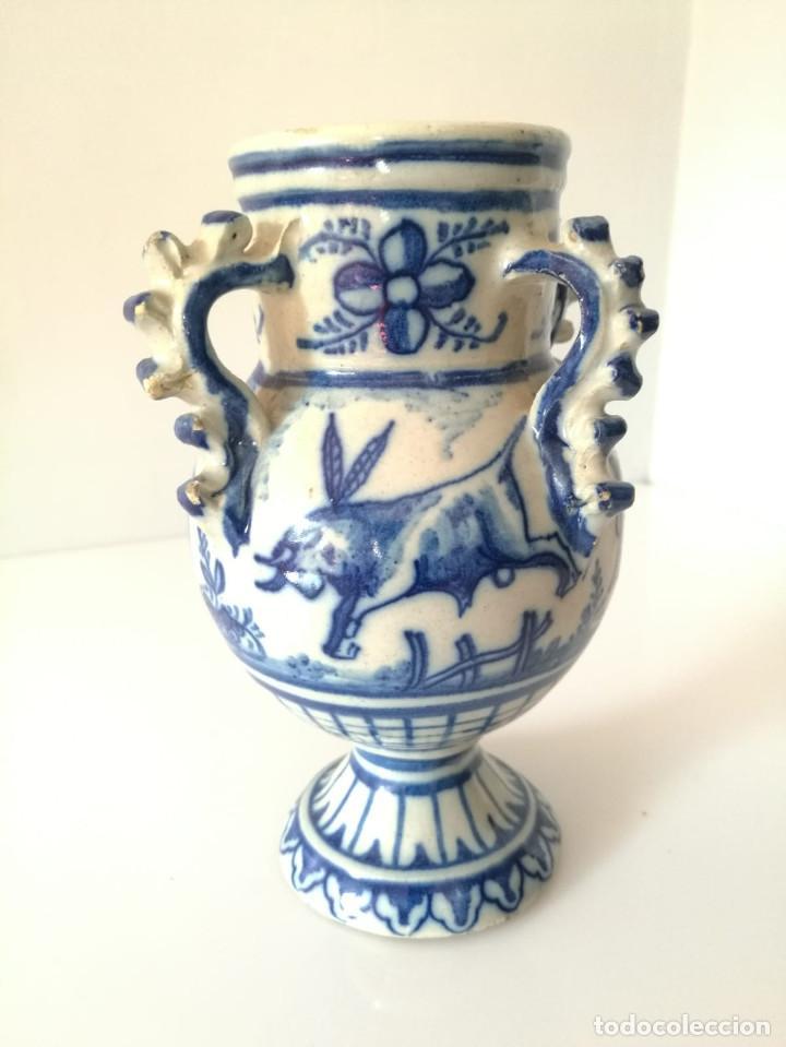 Antigüedades: JARRA DE NOVIA - MOTIVOS TAURINOS - 17 cm - Foto 4 - 135319674