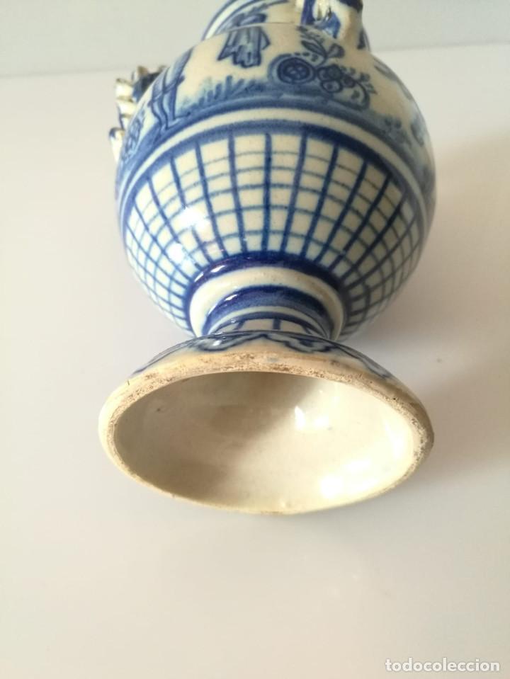 Antigüedades: JARRA DE NOVIA - MOTIVOS TAURINOS - 17 cm - Foto 5 - 135319674