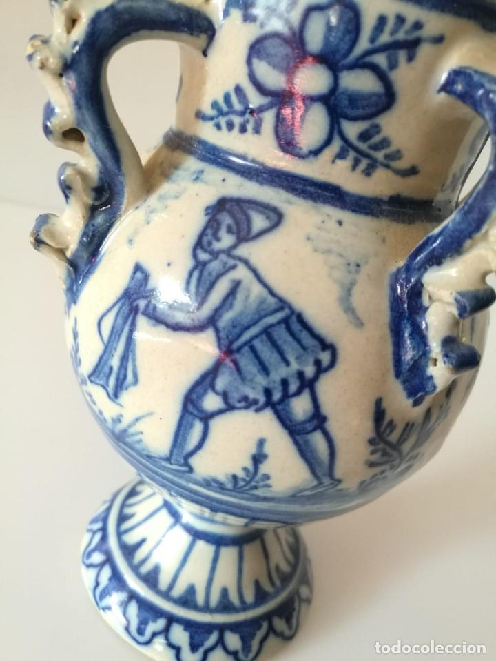 Antigüedades: JARRA DE NOVIA - MOTIVOS TAURINOS - 17 cm - Foto 12 - 135319674