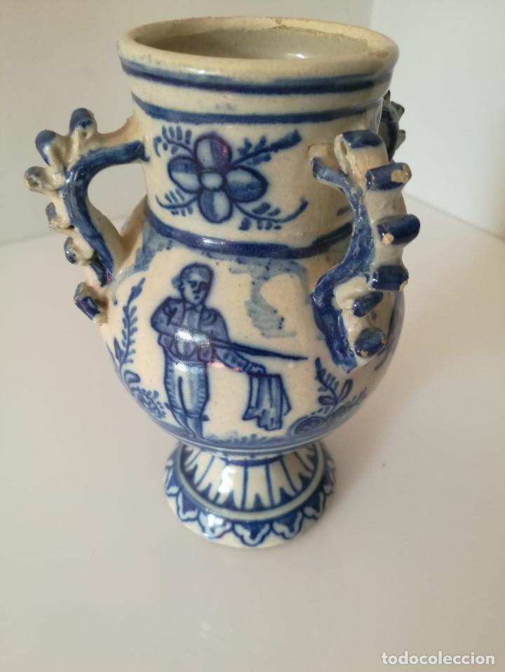 Antigüedades: JARRA DE NOVIA - MOTIVOS TAURINOS - 17 cm - Foto 13 - 135319674