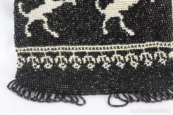 Antigüedades: Bolso pps s XX completamente bordado a mano con cuentas de cristal Embroidery Beads - Foto 3 - 135322346