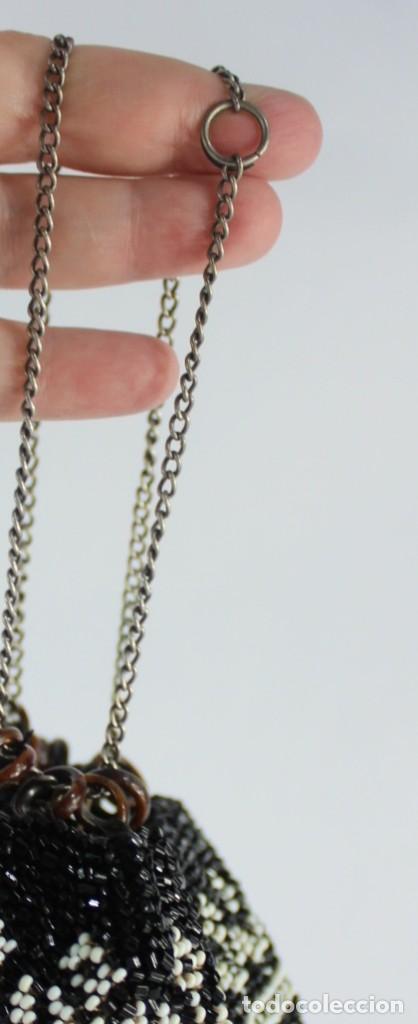Antigüedades: Bolso pps s XX completamente bordado a mano con cuentas de cristal Embroidery Beads - Foto 6 - 135322346