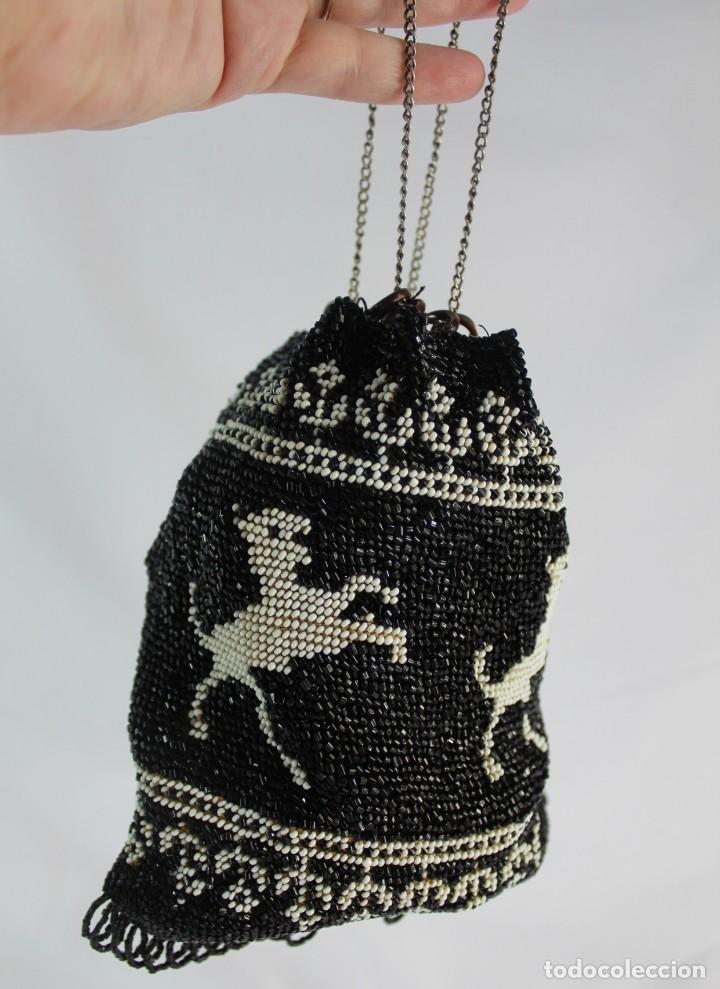 Antigüedades: Bolso pps s XX completamente bordado a mano con cuentas de cristal Embroidery Beads - Foto 7 - 135322346