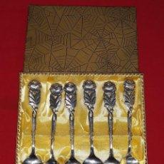 Antigüedades: 6 CUCHARAS PLATEADAS PRINCIPIOS SIGLO XX. Lote 135328450