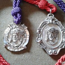 Antigüedades: SEVILLA - MEDALLAS DE LA HERMANDAD DEL STMO CRISTO DE LA BONDAD Y NTRA SRA DEL CARMEN Y S. LEANDRO. Lote 135344318