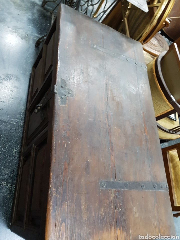 Antigüedades: Arcón baúl de madera años 30 vintage - Foto 5 - 135346641