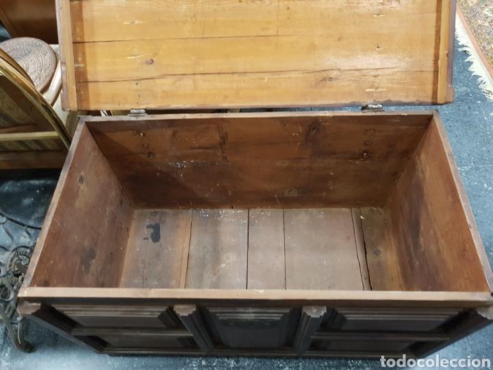 Antigüedades: Arcón baúl de madera años 30 vintage - Foto 9 - 135346641