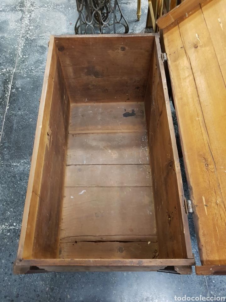 Antigüedades: Arcón baúl de madera años 30 vintage - Foto 10 - 135346641