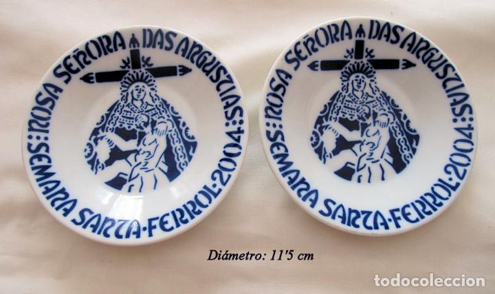 DOS PLATOS SEMANA SANTA FERROL 2004 SARGADELOS (Antigüedades - Porcelanas y Cerámicas - Sargadelos)