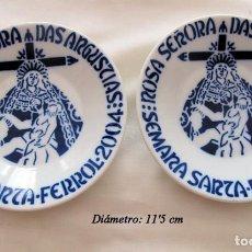 Antigüedades: DOS PLATOS SEMANA SANTA FERROL 2004 SARGADELOS. Lote 135357646