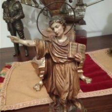 Antigüedades: SAN PANCRACIO SIGLO XIX ESTUCO,BRAZOS DE PLOMO Y OJOS CRISTAL. Lote 135370062