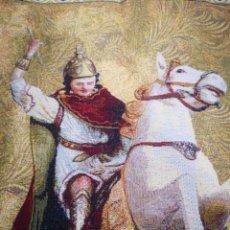 Antigüedades: TAPIZ SAN JORGE MARTIR, MOROS Y CRISTIANOS ALCOY. FILA VASCOS. CAPITÁN CRISTIANO EDUARDO TORMO 2015. Lote 135375358