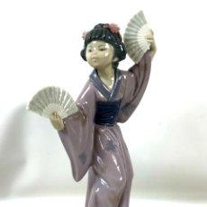 Antigüedades: FIGURA JAPONESA. PORCELANA ESMALTADA. LLADRÓ. ESPAÑA. SIGLO XX.. Lote 135391430