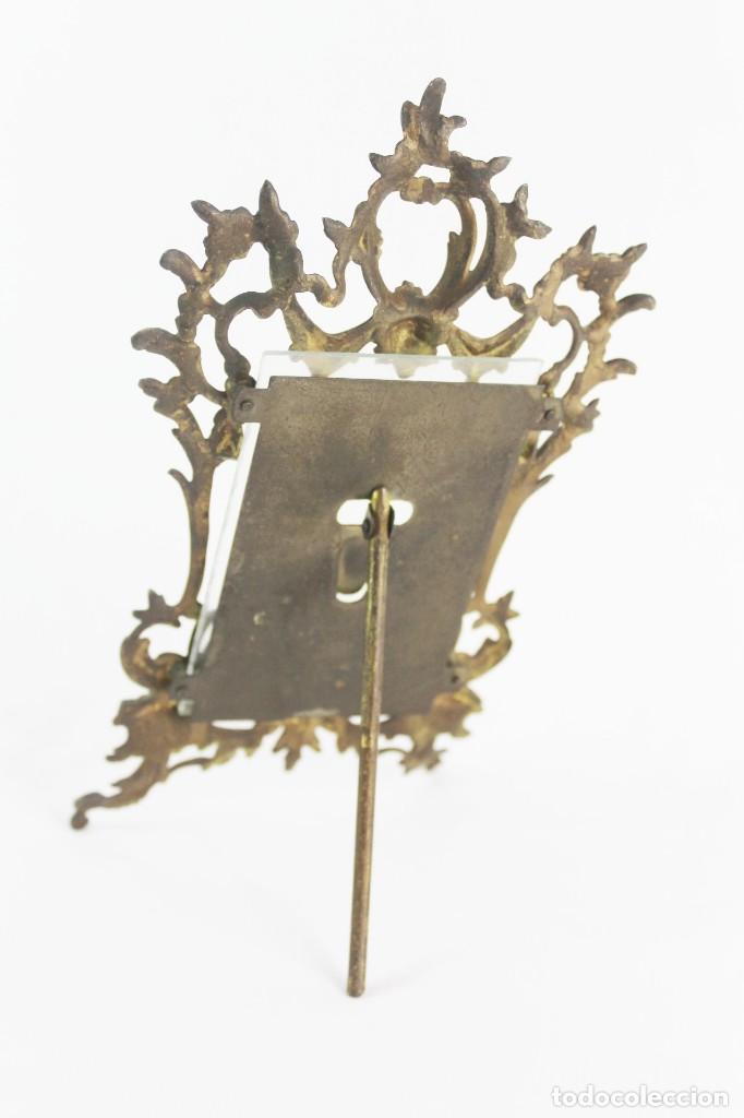 Antigüedades: Marco de bronce s XIX con ángeles. - Foto 7 - 135395018