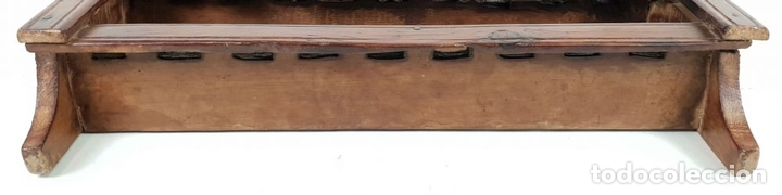 Antigüedades: ESTANTERÍA EXPOSITOR PARA PIPAS DE FUMAR. ESTILO POPULAR. MADERA. SIGLO XIX. - Foto 3 - 135395578