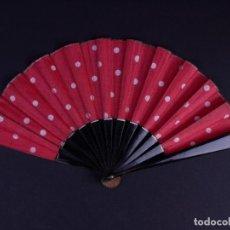 Antigüedades: ABANICO SEVILLANA DE TELA Y MADERA. Lote 135403990