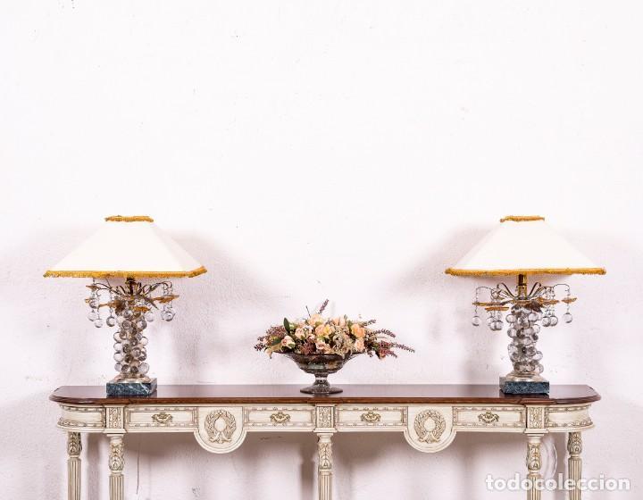 LÁMPARA DE SOBREMESA ANTIGUA DE MURANO (Antigüedades - Iluminación - Lámparas Antiguas)