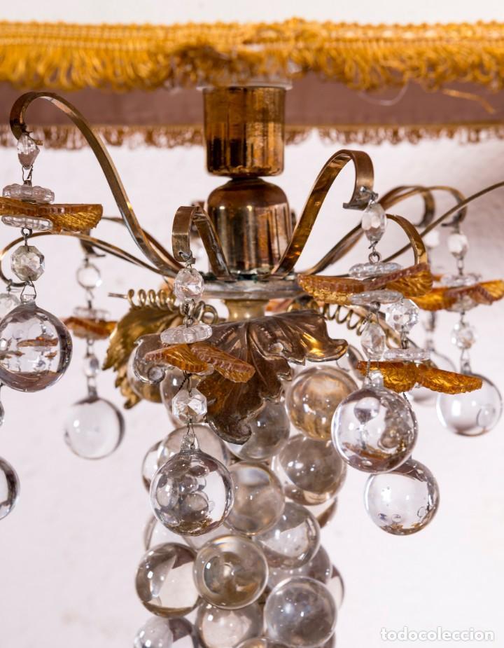 Antigüedades: Lámpara De Sobremesa Antigua De Murano - Foto 4 - 135418558
