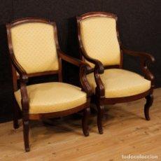 Antigüedades - Par de sillones franceses del siglo XIX - 135418930