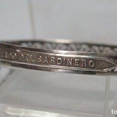 Antigüedades: PRECIOSA PULSERA DE PLATA. RECUERDO DEL SARDINERO. PRINCIPIOS. SIGLO XX. Lote 135422006