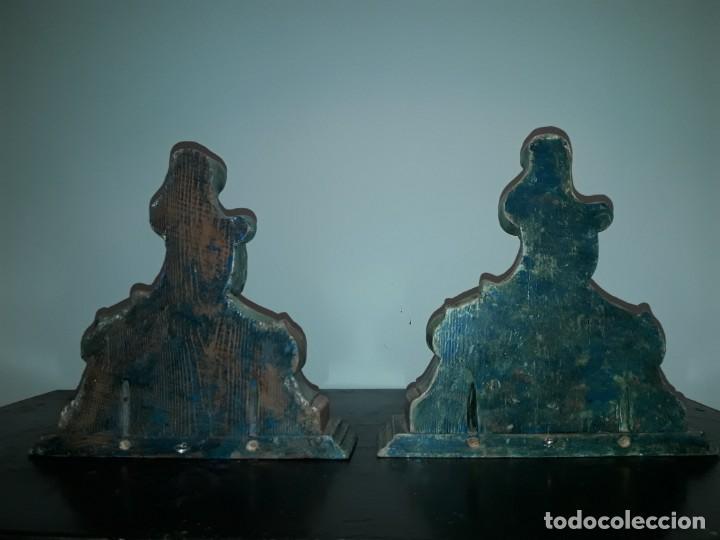 Antigüedades: Pareja mensuales talla madera - Foto 4 - 135427410