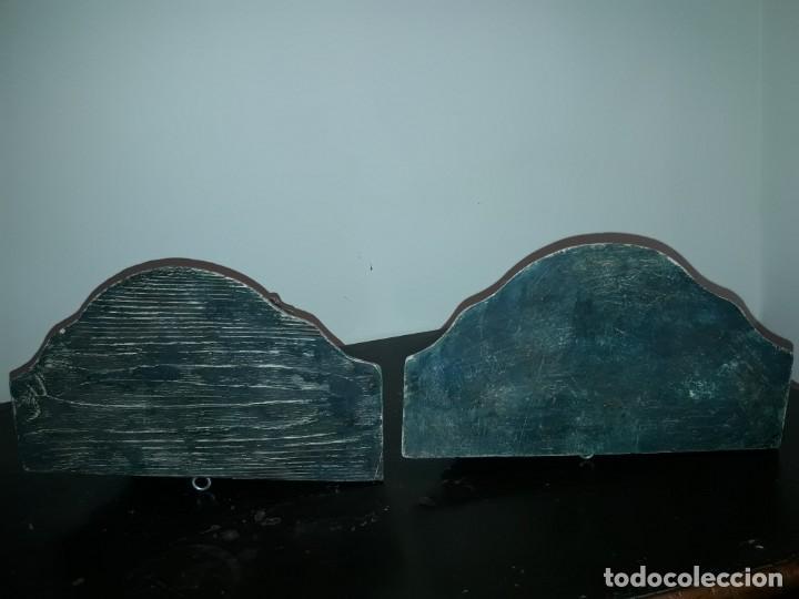 Antigüedades: Pareja mensuales talla madera - Foto 5 - 135427410