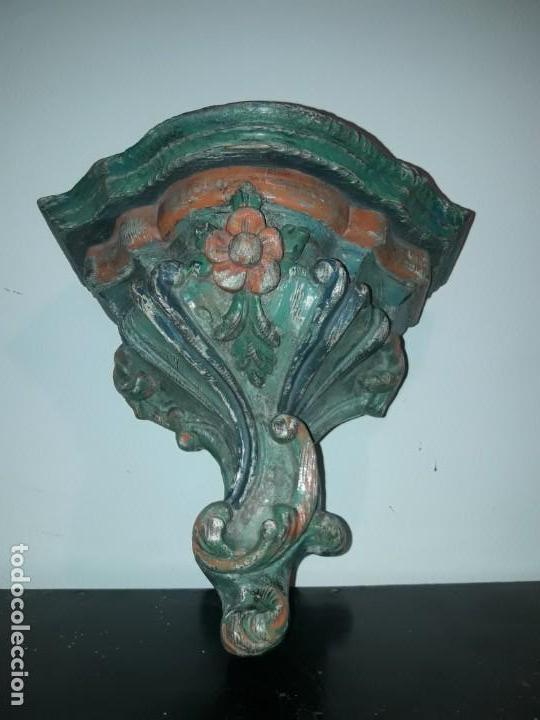 Antigüedades: Pareja mensuales talla madera - Foto 6 - 135427410