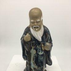 Antigüedades: FIGURA MONJE CHINO. Lote 135427885