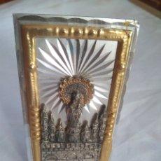 Antigüedades: VIRGEN DEL PILAR RECUERDO DE ZARAGOZA 8,5*5 CM. SE TIENE EN PIE CON EL APOYO TRASERO. Lote 135433849