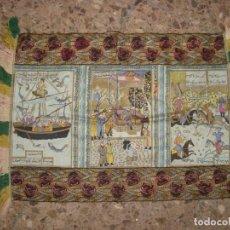 Antigüedades: BONITO Y ANTIGUO TAPETE CON MOTIVOS ORIENTALES , PRINCIPIOS DE 1900 . Lote 135437874