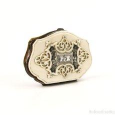 Antigüedades: EXQUISITO MONEDERO MINIATURA , CARNET DE BAILE- MARFIL Y PLATA- FRANCIA, CA.1900 BREVETE S.G.D.G. Lote 136963840