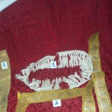 Antigüedades: DOS GALONES PARA CASULLAS Y UN FLECO . Lote 135446638