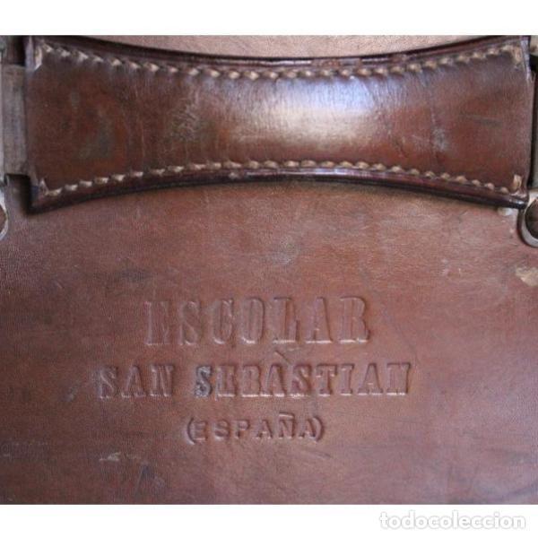 Antigüedades: Antigua maleta de cuero - Foto 6 - 135447518