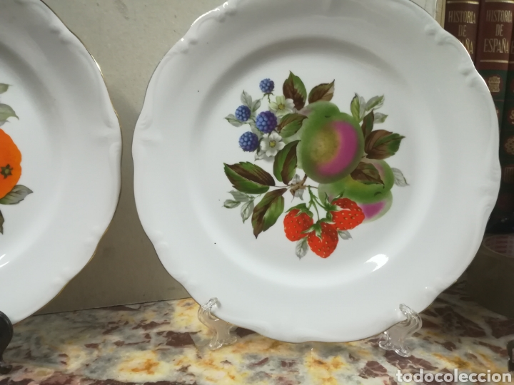 Antigüedades: Pareja de platos de porcelana bidasoa - Foto 2 - 135449951