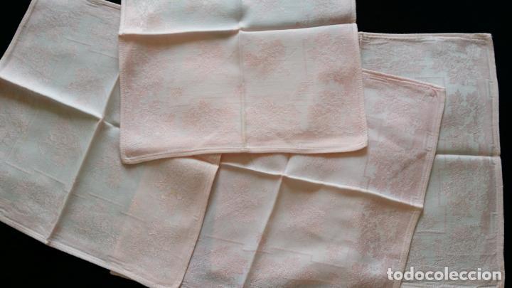 Antigüedades: Cuatro (4) antiguas servilletas - Foto 3 - 135477946