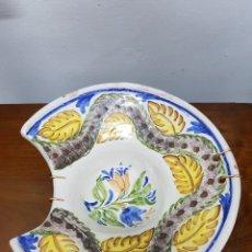 Antigüedades: BACIA PINTADA A MANO DE GIMENO. Lote 135479294