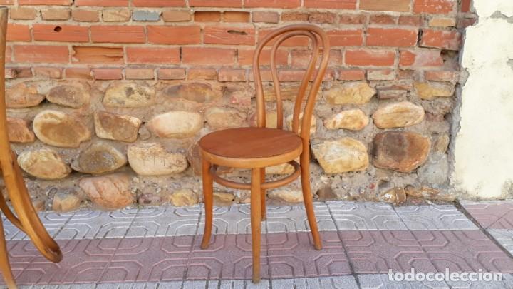 Antigüedades: Cuatro sillas antiguas estilo thonet originales Jacob & Josef Kohn Wien etiquetas silla antigua - Foto 6 - 135485342