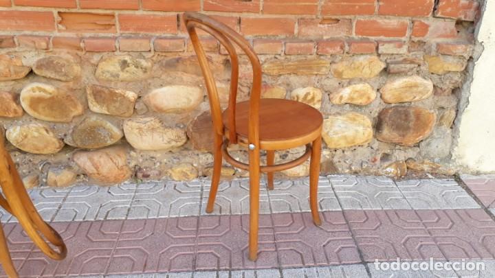 Antigüedades: Cuatro sillas antiguas estilo thonet originales Jacob & Josef Kohn Wien etiquetas silla antigua - Foto 8 - 135485342