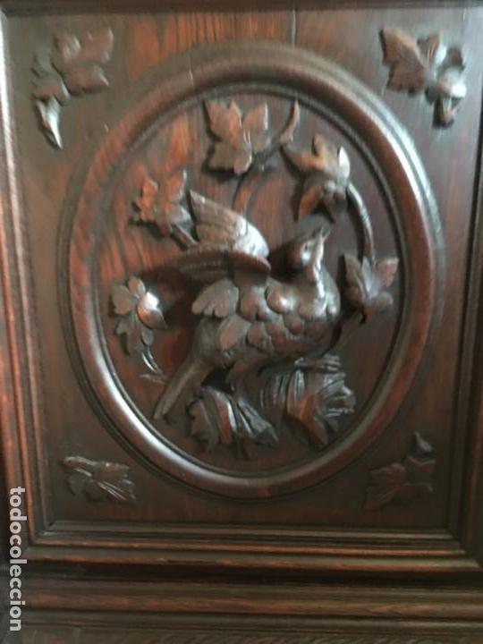 Antigüedades: ARMARIO VITRINA MADERA TALLADA - Foto 6 - 135495746
